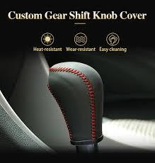 Top Genuine <b>leather gear stick</b> shift knob cover For Hyundai sonata ...