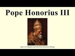 「Honorius III,  the Leandro da」の画像検索結果