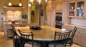 kitchen island with granite