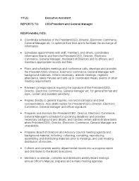 job description for a executive assistant   hashdocjob description for a executive assistant