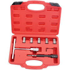 <b>7pcs Diesel Injector</b> Nozzle Seat <b>Cutter</b> Cleaner Tool Set ...