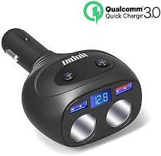 2 Sockets Cigarette Lighter Splitter, QC3.0+5V 2.4A ... - Amazon.com