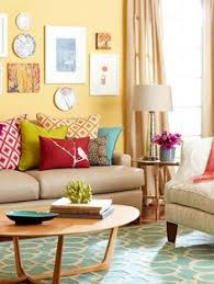 yellow living room walls