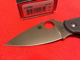 "<b>Spyderco C127PGY Urban Lightweight</b> Folding Knife 2.61"" Bohler ..."