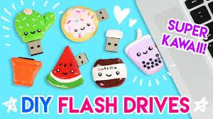 How to Make FIVE <b>DIY</b> Kawaii <b>USB Flash</b> Drives! - YouTube