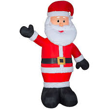 Home Accents 3 ft. LED-Lit Infinity Light <b>Santa</b> Outdoor <b>Christmas</b> ...