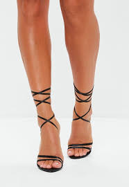 Missguided - Stassie x Missguided Black <b>Pointed Toe Lace</b> Up ...