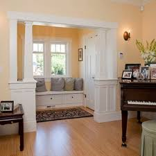living room half wall with column design ideas pictures remodel and decor beautiful living room pillar