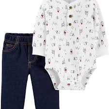 <b>2</b>-<b>Piece Winter</b> Henley Bodysuit Pant <b>Set</b> | carters.com