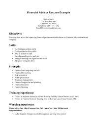 sample financial advisor resume cover letter for financial advisor    investment advisor
