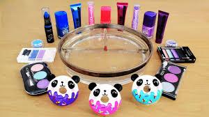 Mixing Makeup Eyeshadow Into Slime! <b>Pink</b> vs Blue vs <b>Purple</b> ...