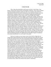 american history   why america repealed prohibition dbq final copy   pages american history   cold war dbq paper