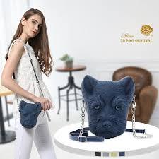<b>Adamo 3D Bag Original</b> Schnauzer Sling Bag Fashion Exquisite ...