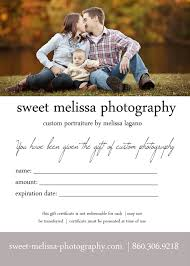 sweet melissa photography holiday gift ideas gift certificates