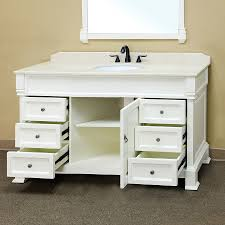 traditional style antique white bathroom:  bellaterra home  s a white bathroom sink