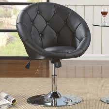 room exciting brown leather swivel
