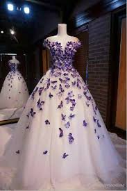 Purple <b>Butterfly</b> Appliques <b>Ball</b> Quinceanera <b>Dress</b> Birthday Party ...