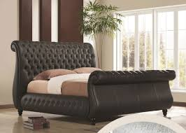 full size of futon bedroom furniture dark chocolate king size buttons tufted leather bed sleight headboard bedding for black furniture