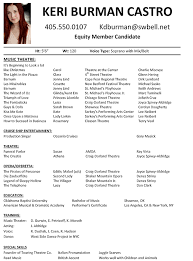 qualifications resume musical theatre audition resume example technical theatre resume sample technical theatre resume audition resume format