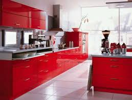 Red And White Kitchen Decor