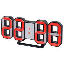 <b>Часы</b>-будильник <b>Perfeo LUMINOUS</b>, черный корпус / красная ...