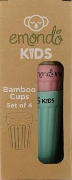 ECO CUPS (<b>SET OF 4</b>) - <b>BAMBOO</b> DINNERWARE – Eco Bliss Co.
