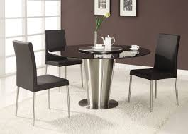 black round dining table set