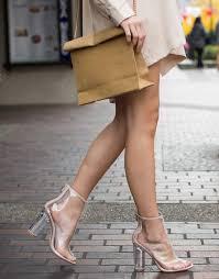 <b>Peep Toe Clear</b> Heel Boots