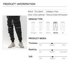 2019 <b>Men Hip Hip Cargo Pants</b> Multi Pockets SweatPant Streetwear ...