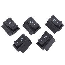 <b>Mayitr</b> 5pcs Mini Boat Rocker Switch 2 Pin SPST On/Off Momentary ...