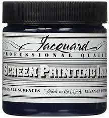 Jacquard JAC-JSI1112 Screen Printing Ink, 4 oz, Navy - Amazon.com