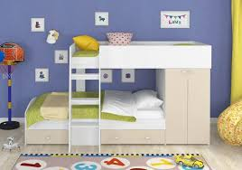 Детская <b>двухъярусная кровать</b> со шкафом <b>Голден</b> Кидс-2