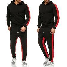 <b>Zogaa Brand Men</b> Sweat Suit Set Gyms Bodybuilding Workout ...