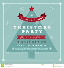 christmas party flyer for club and disco events stock vector flat design christmas party invitation tree royalty stock photo