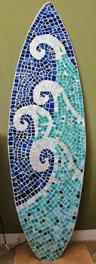 mosaic wall decor: stained glass mosaic surfboard ft wall art by lucydesignsonline