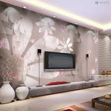 living room decor wall flowers home