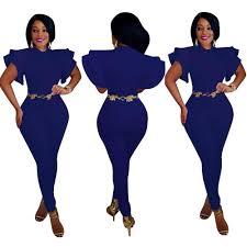 Elegant Summer Women Jumsuits Fashion <b>Ruffle</b> Sleeveless ...