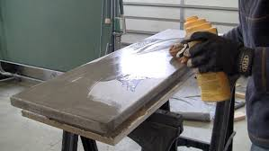 apply sealer to concrete table cement furniture