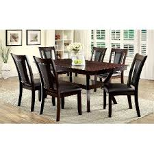 4 chair kitchen table:   piece dining set transitional brent dark cherry