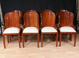 art deco dining chairs set 6 french art deco high quality dining chairs solid walnut set art deco dining 13