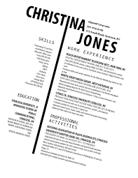 could be an interesting resume for someone applying for a magazine could be an interesting resume for someone applying for a magazine newspaper design job not much different from a tradition resume other than the