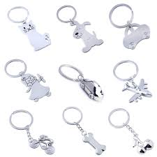 KOMi Animal Charms Keychain Stainless Steel Dog Cat Cherry <b>Car</b> ...