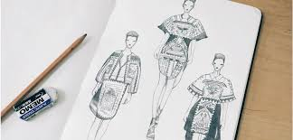 the sketchbook essay feature not just a label fashion illustration abstract blue fashion illustration sketchbook and pencil