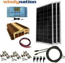 COMPLETE <b>KIT</b> 300 W Watt <b>300W Solar Panel</b> + 1500W Inverter ...