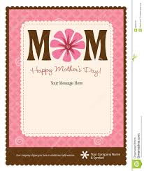 mother s day flyer poster template royalty stock image mother s day flyer poster template