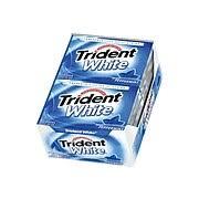 Trident White® Chewing Gum, Peppermint, <b>12 Piece</b>/<b>Pack</b>, 9 Pk/Bx ...