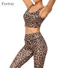 <b>2019 Vertvie 2019</b> Women <b>New Summer</b> Set Outfits Leopard Print ...