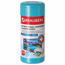 <b>Brauberg Салфетки</b> влажные Антибактериальные для экранов и ...