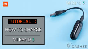 Tutorial: How to Charge <b>Mi band 3</b> - YouTube