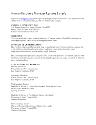 human resources resume objective berathen com human resources resume objective and get inspired to make your resume these ideas 10